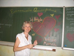 Angela Machiel in de klas